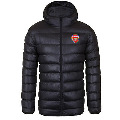 Arsenal FC Official Football Gift Mens Quilted Hooded Winter Jacket • 49.99£