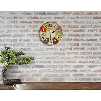 AU32.95 • Buy Large Colourful Wall Clock Kitchen  Office Retro Timepiece