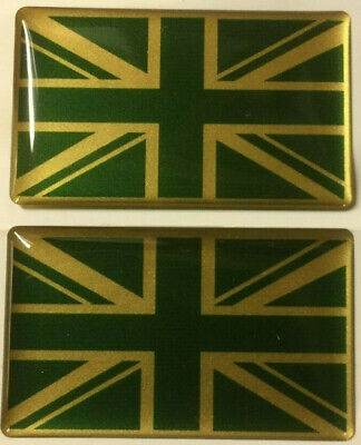 Land Rover Classic Range Rover  Pair Decal Union Jack Green And Gold • 5.40£