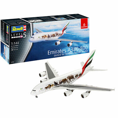 REVELL Airbus A380-800 Emirates  Wild Livery  1:144 Aircraft Model Kit 03882 • 24.95£