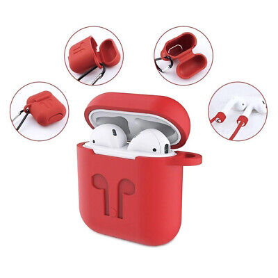 AU5.49 • Buy Airpod Silicone Shockproof Case Cover Skin Anti Loss Straps Fits Airpod 1 And 2