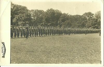 Large Group Of Soldiers/cadets In Line Standing C1916 T Forrest Pontypridd Rppc • 17.50£
