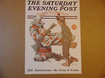 $ CDN10.14 • Buy Saturday Evening Post MAY 18,1918  (REPRINT) Norman Rockwell (COVER ONLY)