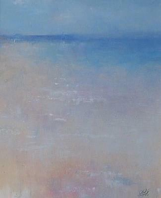Amanda Hoskin Original Oil Painting - Misty Waters St Ives Cornwall Cornish Art • 275£