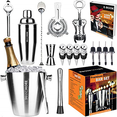 Professional Bartender Kit Cocktail Shaker Bar Set Includes Tools & Accessories • 62.78$