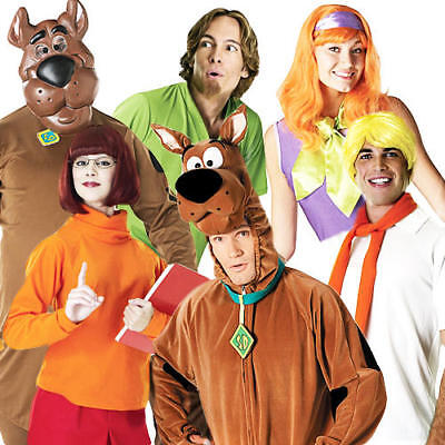 £27.49 • Buy Licensed Scooby Doo Halloween Fancy Dress 80s Mens Ladies Adults Costume Outfits
