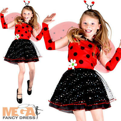Ladybird Girls Fancy Dress Lady Bug Insect Animal Book Day Kids Children Costume • 14.99£