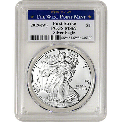 $37.20 • Buy 2019-(W) American Silver Eagle - PCGS MS69 - First Strike West Point Label