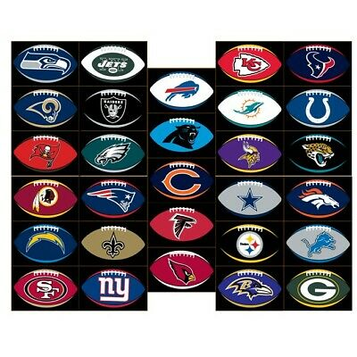 $1.47 • Buy NFL Team Logo Football Shaped Decal, Cellphone,laptop,car Sticker. Free Shipping