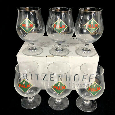 $89.95 • Buy Ritzenhoff Cristal Beer Glasses Palm Ale Crystal Chalice Set Of 6 German