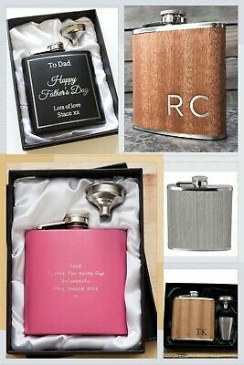 £9.79 • Buy Personalised Engraved Hip Flask Wine Flask Gift Idea Dispatch Time Same/next Day