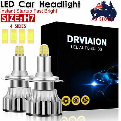AU29.59 • Buy H7 3D 4Side LED Headlight Replace HID Halogen 120W 18000LM 6000K White Globes
