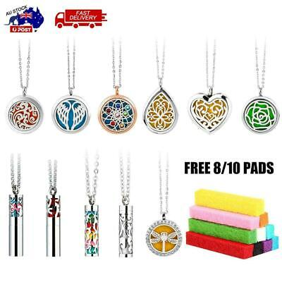 AU18.53 • Buy Aromatherapy Perfume Fragrance Necklace Essential Oil Diffuser  Locket Pendant