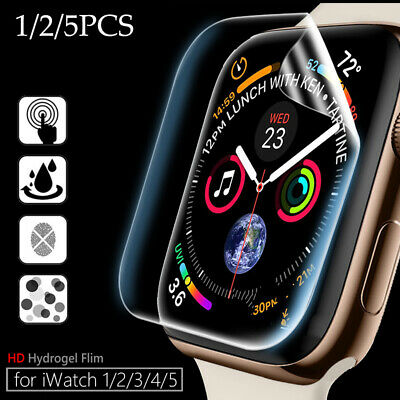 $ CDN1.78 • Buy 5X Screen Protectors For IWatch Apple Watch Series 5 4 3 2 1 TPU Protective Film