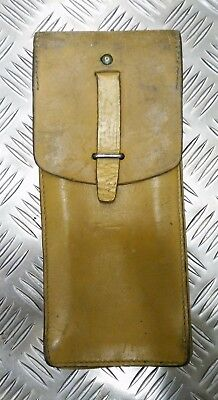 Genuine Vintage Military Issue Leather Ammo / Utility Pouch Light Brown / Tans  • 9.99£