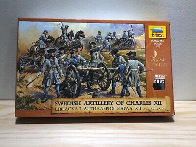 SWEDISH ARTILLERY OF CHARLES XII  1/72 Scale  ZVEZDA 8066 • 16.64£