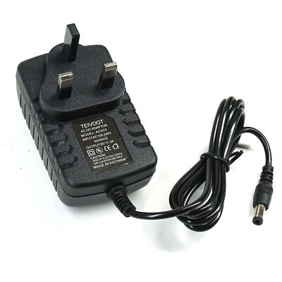 £5.99 • Buy 9v 2a Ac/dc Uk Plug Power Supply Adapter 2000ma Charger Mains Lead