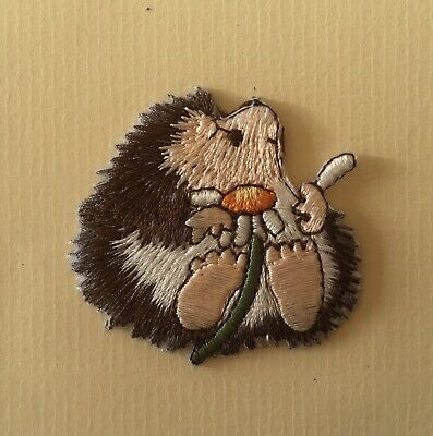 Baby Hedgehog Iron / Sew On Full Embroidered Patch Appliqués Badge • 2.75£