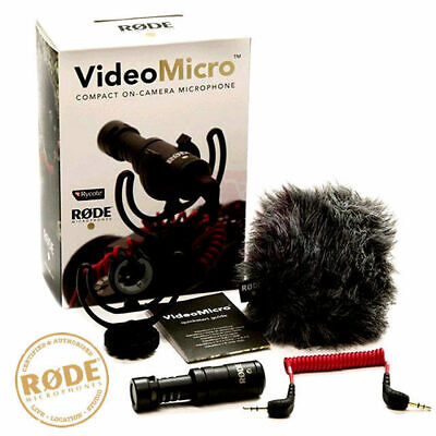 AU77.95 • Buy Rode VideoMicro Compact On Camera Lightweight DSLR Video Micro Microphone