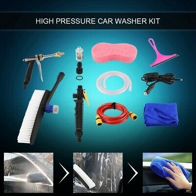 DC 12V 160PSI High Pressure Car Washer Cleaner Water Wash Pump Sprayer Kit - USA • 25.88$