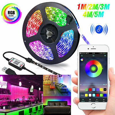 $13.97 • Buy USB LED Strip Bluetooth 5V RGB 5050 Flexible Ribbon Ambilight TV Light Backlight