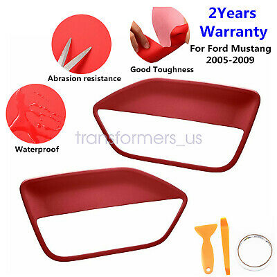 $19.29 • Buy 2pcs Leather Door Panel Insert Cards Cover Fit For Ford Mustang 2005-2009 RED