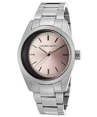 NEW Cabochon 504 Women's De Ce Monde Pink Sunray Dial Silver Stainless Steel Ana • 46.78£