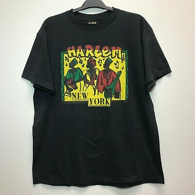 $ CDN99 • Buy Vintage Harlem New York 3D Emblem T-Shirt Men's Size XL Made In USA