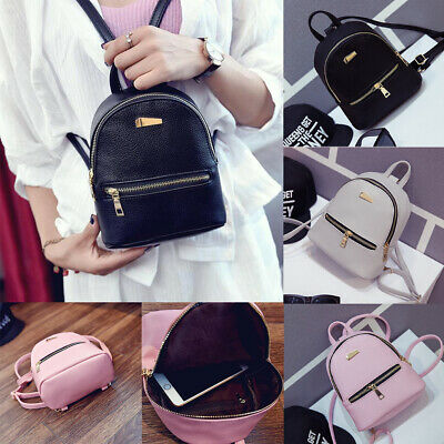 $13.99 • Buy US Stock Women Small Mini Backpack Girls School Bags Travel Shoulder Bag Handbag