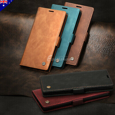 AU9.99 • Buy Leather Stand Wallet Case Cover Shockproof For Samsung S10 S20 S21 Plus Ultra
