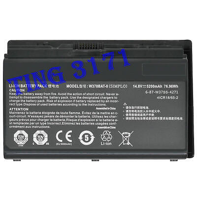 $58.99 • Buy W370BAT-8 Genuine Battery For Clevo Schenker XMG A503 A522 Sager NP6350 NP6370