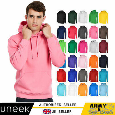 Uneek Unisex Deluxe Hooded Sweatshirt Soft Casual Jumper Mens Pullover Hoody • 12.90£