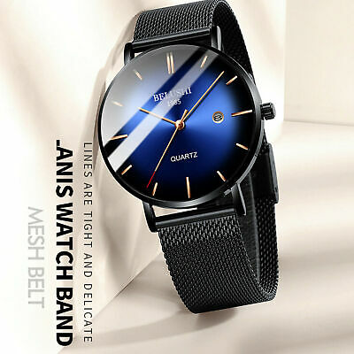AU21.38 • Buy Men's Waterproof Dress Sport Date Analog Quartz Wrist Watch Business Watches