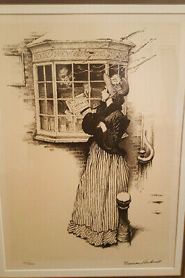 $ CDN4266.88 • Buy Norman Rockwell  The Bookseller  Hand Signed Numbered 145/200 Lithograph