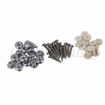 $ CDN25.42 • Buy 40PCS Mushrooms Strap Locks Chrome Guitar Strap Buttons  For Guitar Parts