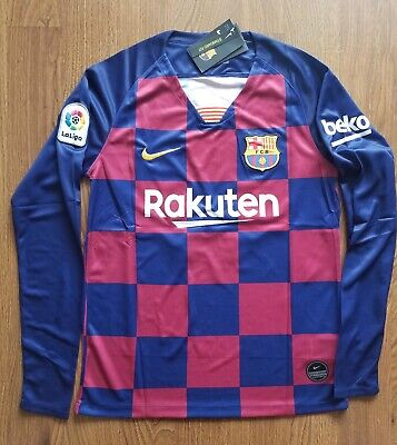 $39.99 • Buy Messi & Griezmann 19/20 FC Barcelona Home Long Sleeve Jersey