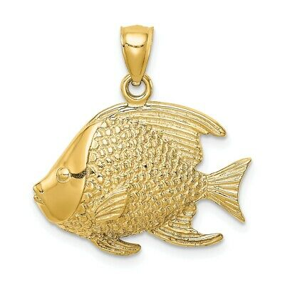 14K Fish Pendant New Charm Yellow Gold • 187.99$