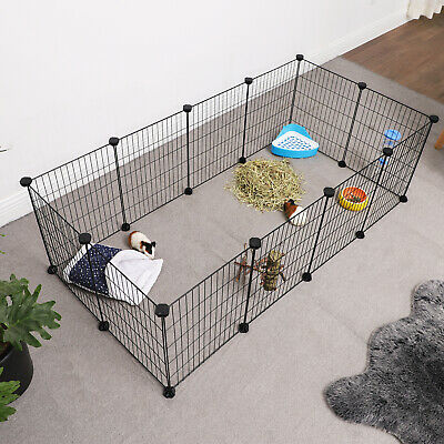 Pet Guinea Pigs Cages 12 Panels Metal C C Runs Indoor Playpen Rabbit DIY LPI01H • 27.99£