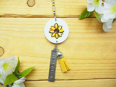 $15.28 • Buy Sunflower Car Accessories, Rear View Mirror Charm, Vehicle, Gift For Women Girls