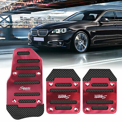 $9.57 • Buy 3x/Set Red Universal Pedals Pad Cover Car Interior Decor Car Accessories Durable