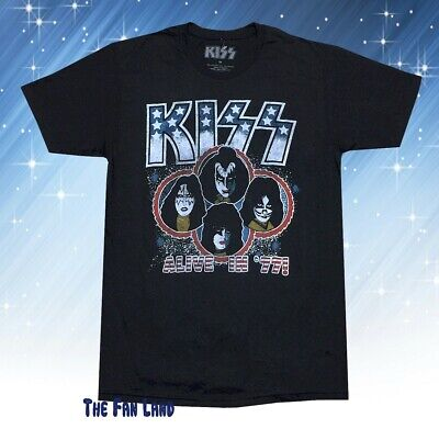 $21.95 • Buy New Kiss Band Alive In 1977 Classic Mens Vintage Retro T-Shirt