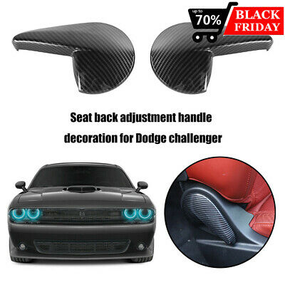 $27.04 • Buy Carbon Fiber Style Seat Handle Panel Cover Trim Inne For Dodge Challenger 2010+
