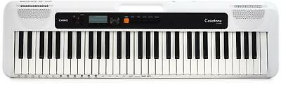 $119 • Buy Casio Casiotone CT-S200 (White) - 61-key Digital Piano With 48-note Polyphony
