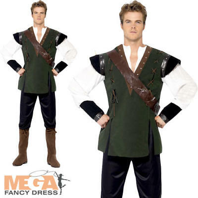 Robin Hood Mens Fancy Dress Fairy Tale Book Day Medieval Thief Adults Costume • 22.99£