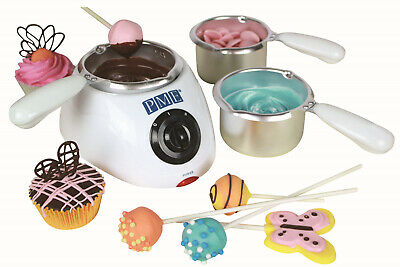 PME Electric Chocolate Candy Melt Buttons Melting Pot 2 Heat Settings 3 Pots • 19.99£