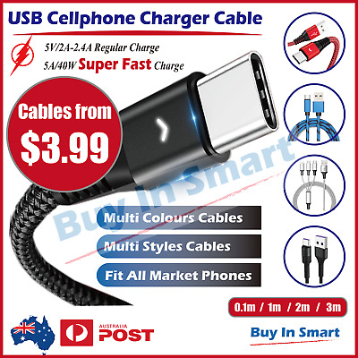 AU5.25 • Buy IPhone IPad Ipod Lightning USB  Cable Cord Data Sync Charger  6 X 8 7 5 Air Pro