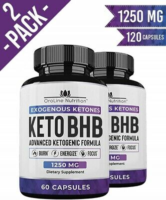 2 Bottle Keto BHB Advanced Weight Loss Pills Dietary Supplements With 120 Caps • 22.95$
