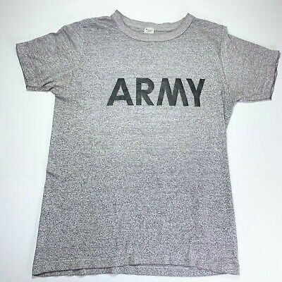 $ CDN65.27 • Buy Champion Vintage 80s Army T-Shirt Heather Gray 50/50 Military Men L Made In USA
