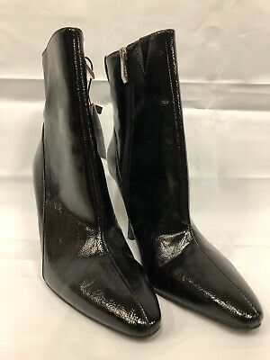 Zara-faux Leather Ankle Boots-black-size 8-brand New With Tags • 39.99$