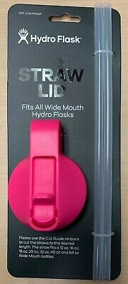 $9 • Buy Hydro Flask 2 Straws Lid Wide Mouth Fits 14 32 40 64 Flamingo Pink